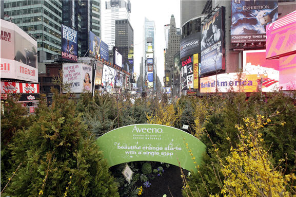 Aveeno Pop-up Forest Times Square