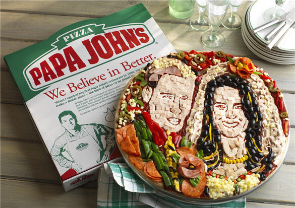 Prince William and Kate Middleton Pizza by Papa Johns