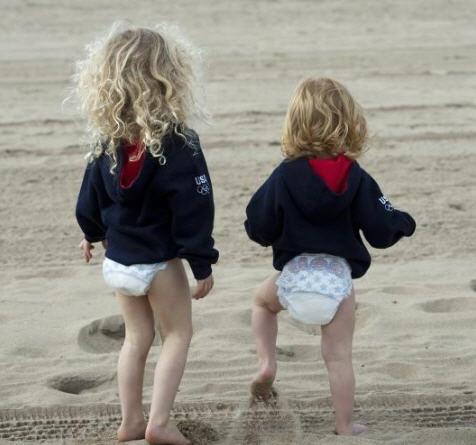 Kerri Walsh Babies in Pampers
