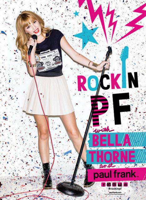 Bella Thorne Rockin Paul Frank Fall 2013 Campaign