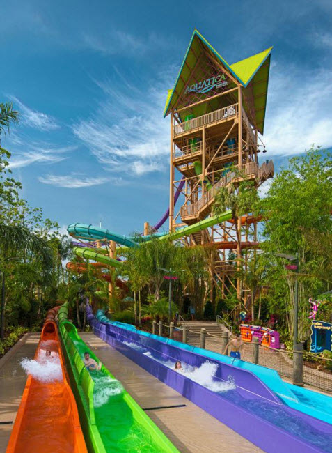 Ihu's Breakaway Falls at SeaWorld's Waterpark