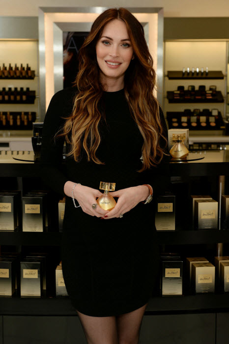 Megan Fox promotes Avon Instinct for Valentines Day