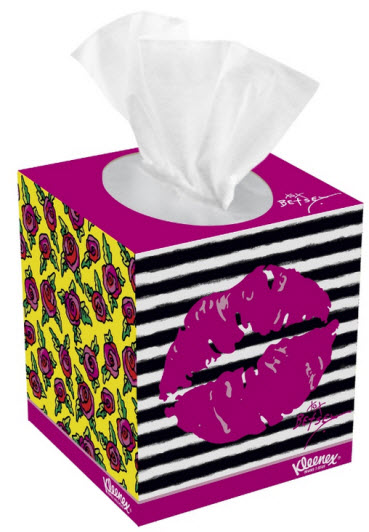 Betsey Johnson Kiss Me Kleenex box