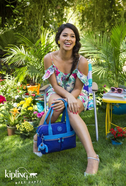 Gina Rodriguez in Kipling Summer 2015 campaign