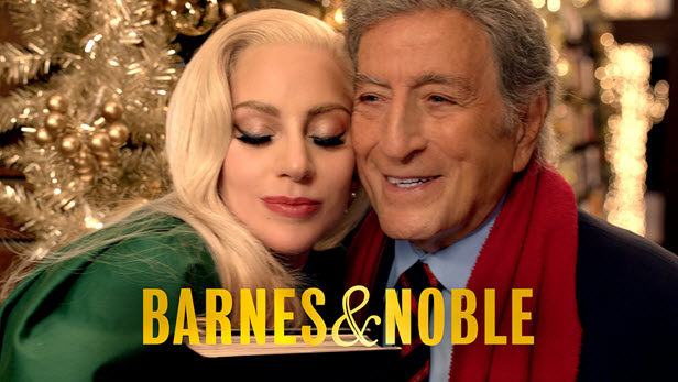 Lady Gaga and Tony Bennett in Barnes & Noble holiday 2015 a