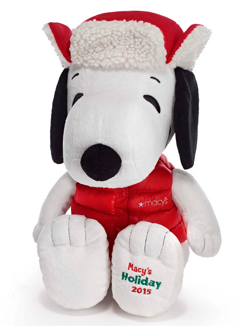 Macy's Holiday 2015 Snoopy collectible plush