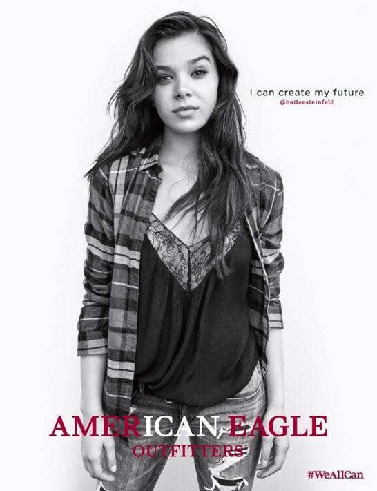 Hailee Steinfeld in American Eagle Fall 2016 campaign