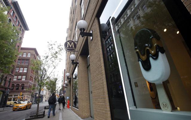 Magnum Ice Cream Shop in New York City's SoHo District