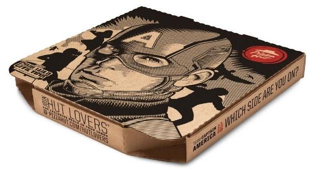 Pizza Hut Captain America box