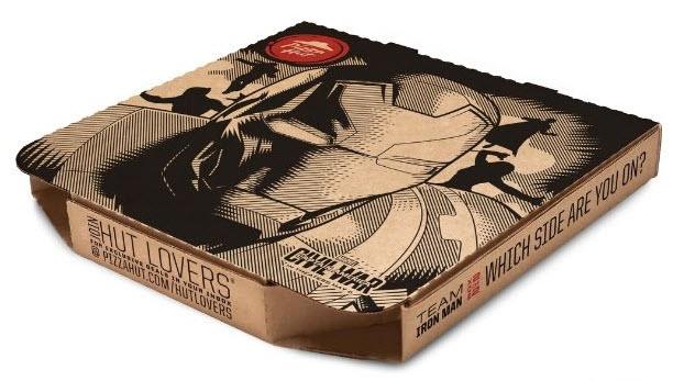 Pizza Hut Iron Man box