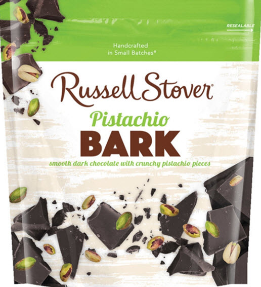 Bag of Russell Stover Pistachio Bark