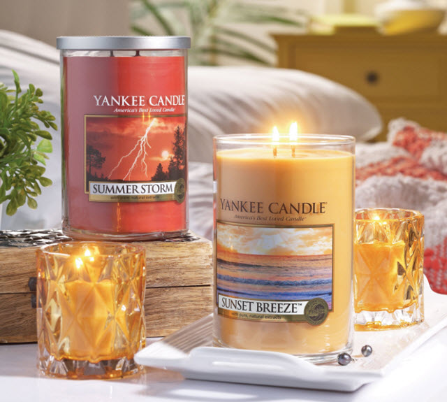 Yankee Candle Summer Storm and Sunset Breeze fragrances