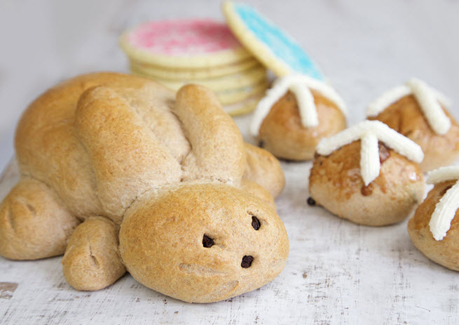 Honey Bunny bread creation for Easter from Great Harvest Bread