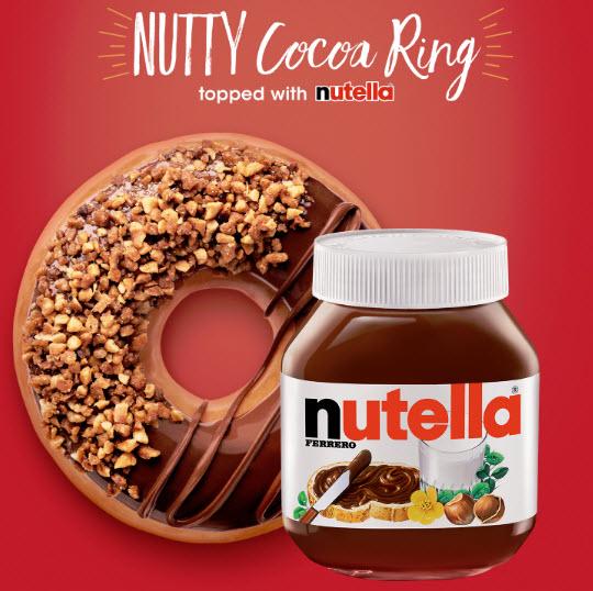 Krispy Kreme Nutty Cocoa Ring doughnut