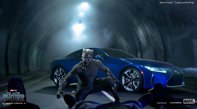 Black Panther in Lexus Super Bowl Ad