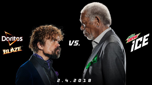 Peter Dinklage and Morgan Freeman in PepsiCo Super Bowl Ad