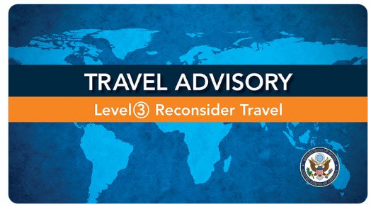 State Department Level 3 Reconsider Travel