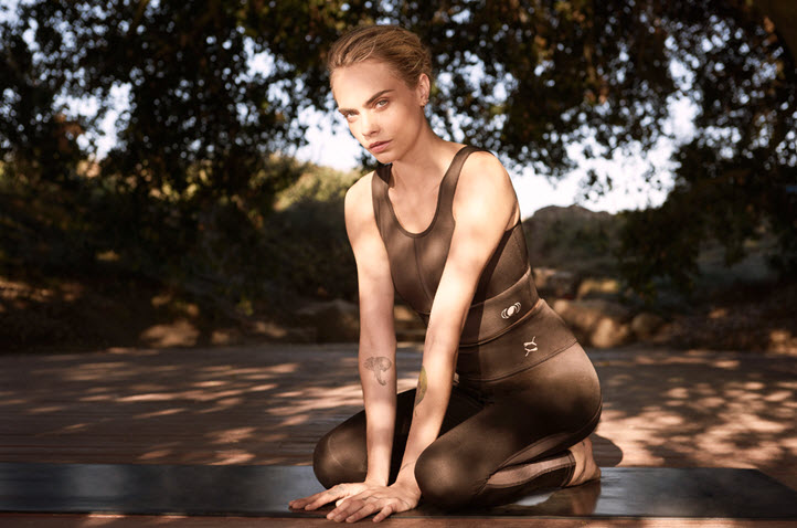 Cara Delevingne models Puma Exhale collection