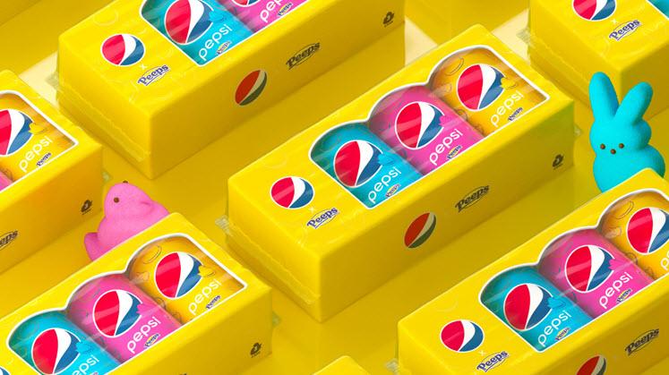 Pepsi x Peeps Marshmallow Cola Cans